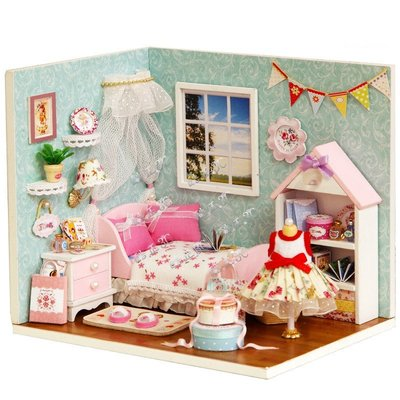 【酷正3C】DIY小屋 袖珍屋 娃娃模型屋 材料包 玩具娃娃住屋 交換禮物 手工拼裝房子 幸福系列 H009幸福小天地