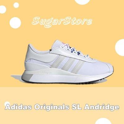 SugarStore - Adidas Originals SL Andridge 白色 花卉 緞面 厚底 EG6846