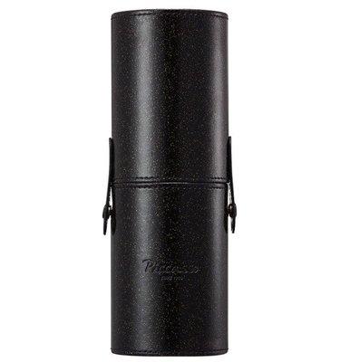PICCASSO 黑色刷筒 簡約 便攜 亮片筒形化妝刷盒 刷具桶 刷筒【愛來客】韓國PICCASSO授權經銷商