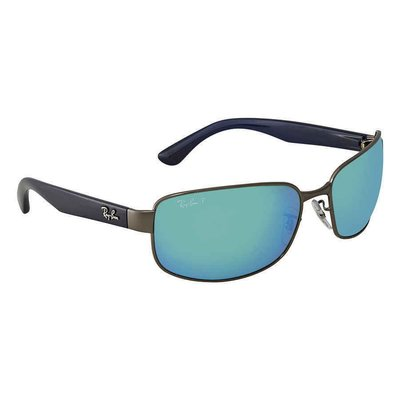 Ray Ban Chromance Polarized Blue Mirror Chromance  RB3566CH 004/A1 65男太陽眼鏡