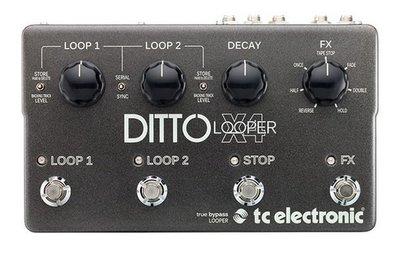 ☆ 唐尼樂器︵☆ TC Electronic Ditto X4 Looper 單顆 效果器
