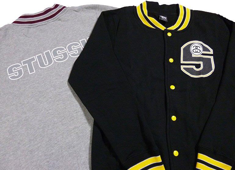 【超搶手】全新正品2014 冬季最新 STUSSY S-LINK FLEECE JACKET 棒球外套 灰色M L XL