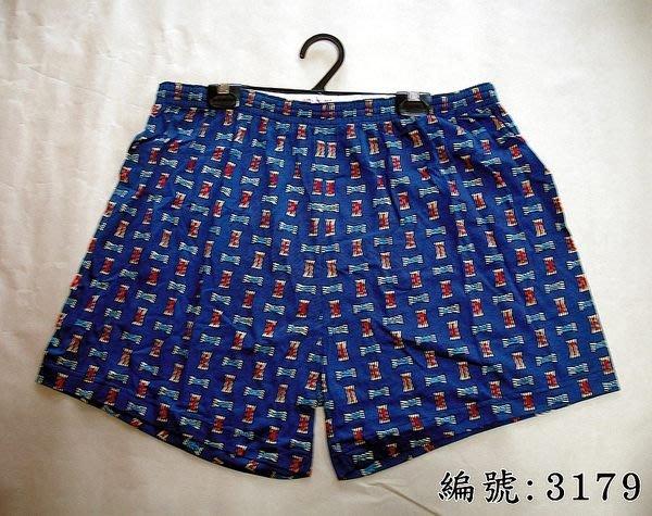 短褲台灣製紅螞蟻平口褲100%絲光棉編號3179、3180