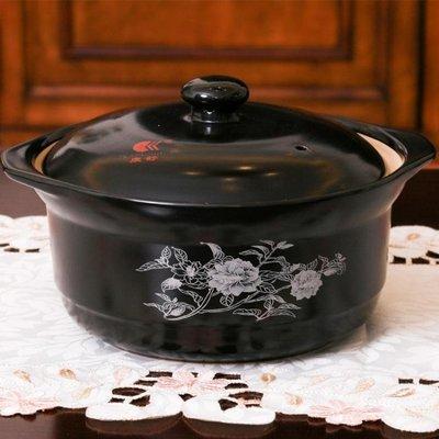 寬口砂鍋家用湯鍋燃氣明火湯煲大容量熬粥煲湯燉鍋石鍋igo