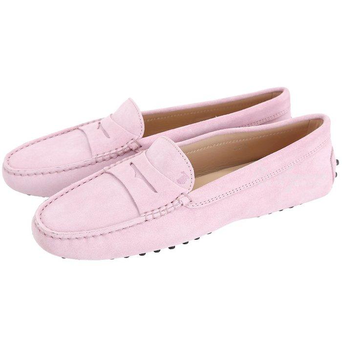 米蘭廣場 TOD'S Gommino Driving 麂皮絨休閒豆豆鞋(女鞋/粉色) 1720172-47