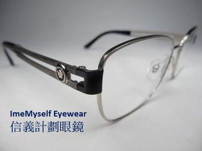 【信義計劃】全新真品 VERSACE 凡賽斯 1234 ImeMyself Eyewear 義大利製 金屬 方框