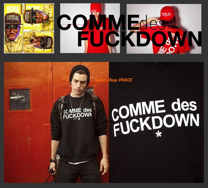 COMME des Fuckdown 美國製【現貨↘打7.5折】L號 Russ Produce 長袖 T恤