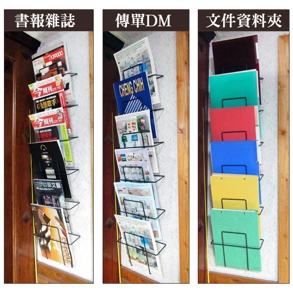 ☆成志金屬☆壁掛式雜誌架、DM架、傳單架,多格展示,簡易安裝,兩顆壁鈕鎖於牆面