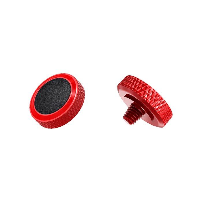 【傑米羅】JJC 機械相機 螺牙式 快門按鈕 增高鈕《純銅製 豪華版》(SRB-R 紅框黑皮) - 帶防脫圈 防鬆脫