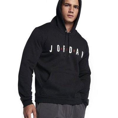 百狗 NIKE JORDAN AIR LOGO 喬丹 刷毛帽領T恤 黑色 AH4510 010