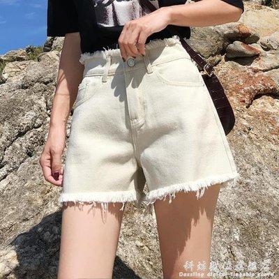 牛仔短褲女高腰夏新款韓版寬鬆顯瘦學生外...