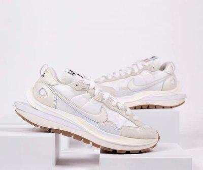 Sacai x Nike Vaporwaffle 解構 米白 奶白色 慢跑鞋 男女鞋 DD1875-100