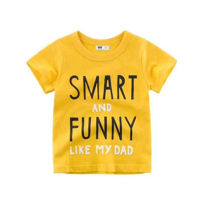 韓版    童裝 夏季款新品  兒童   T恤 短袖寶寶衣服男童半袖圓領上衣潮