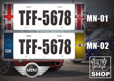 【STREET PARK】訂製 歐盟 車牌裝飾 MINI R56 R60 F56 F60【原價780$ 特價 580$】