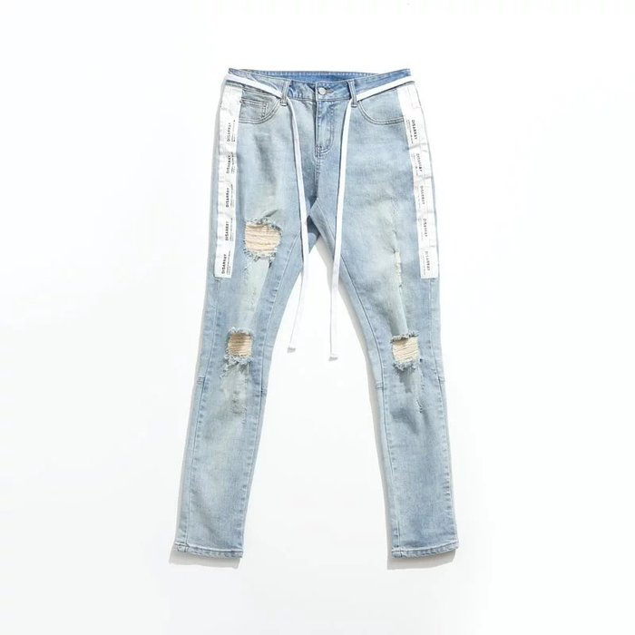 美國東村【DISARRAY】Damaged denim pants Selak