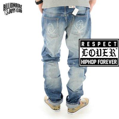 Cover Taiwan 官方直營 Billionaire Boys Club BBC 直筒牛仔褲 補丁 藍 (預購)
