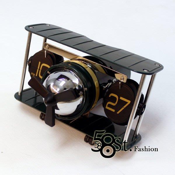 【58街】設計師創意掛鐘「飛機造型翻頁鐘」,製成質感一流,日本機芯。AB-142