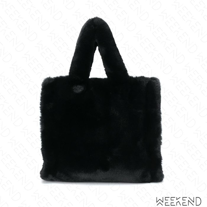 【WEEKEND】 STAND STUDIO Lolita 鋪毛 手提包 托特包 黑色
