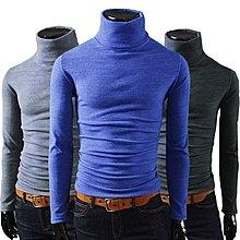 特價秋冬男裝韓版修身磨毛保暖高領打底衫男潮純色長袖T恤