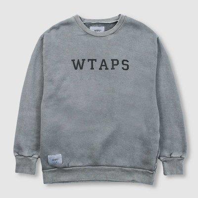 WTAPS 19AW COLLEGE. DESIGN CREW NECK / SWEATSHIRT. COTTON