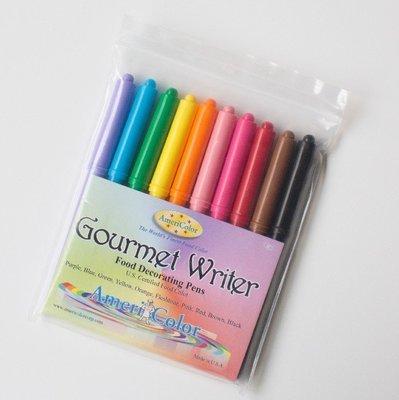 沅君M.M烘焙魔法師美國Americolor十色食用色素筆-翻糖用可用於翻糖糖霜餅
