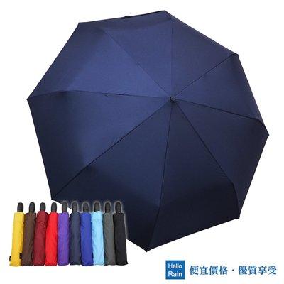 【Hello Rain】龍捲風防風自動雨傘(深藍)~138cm超大傘面