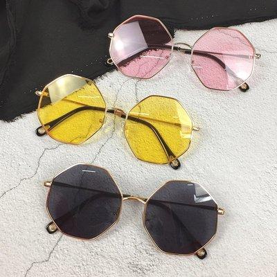 韓版2018夏天新款百搭墨鏡多邊形顯臉瘦太陽鏡個性時尚眼鏡潮男女