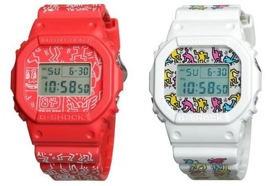 佐敦門市 現貨 本地包郵 100% 全新 Casio G-Shock x Keith Haring DW-5600KEITH 一年保養 bp8