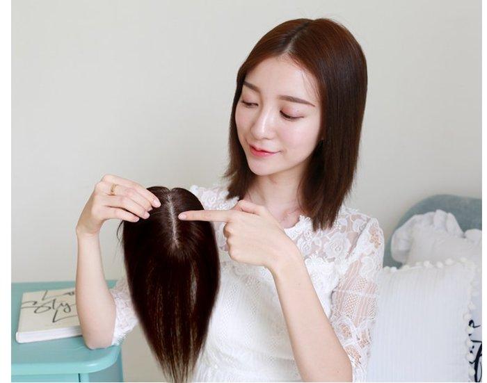 米緹雅假髮☆╯頭頂真髮假髮片【121325】25cm 遞針中分補髮塊☆舒適、自然、快速穿戴♥☆╮現貨╭☆