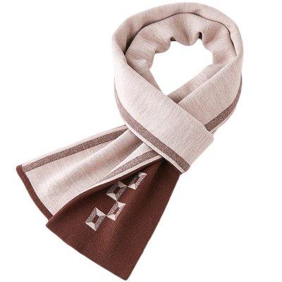 圍巾 針織披肩-拼色格子雙面羊毛男配件4色73wi8[獨家進口][米蘭精品]