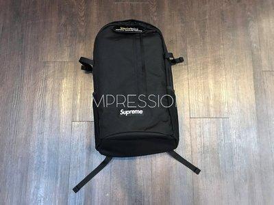 【IMPRESSION】Supreme 18SS 44th Backpack 黑色 字母 登山 運動 後背包