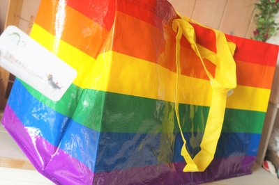 ˙TOMATO生活雜鋪˙澳洲進口雜貨限量款彩虹購物袋澳洲 IKEA多用途手提 肩背環保摺疊購物袋 (現貨+預購)