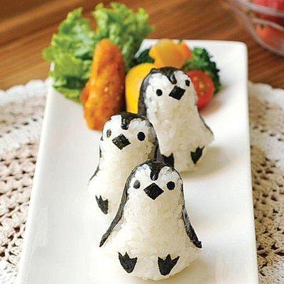 ***日本帶回***可愛小企鵝飯糰製作模具組♪♪♪(おにぎり型)