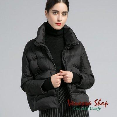 歐美 秋冬新款 超值推薦 俐落短版 極輕舒適 大口袋寬鬆蓬蓬麵包型羽絨外套 三色 (V542)
