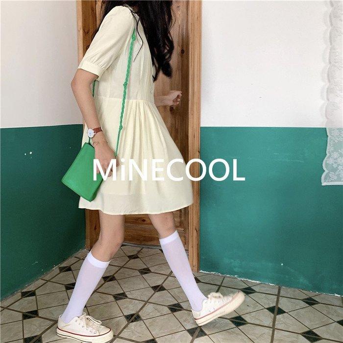 MiNE SHOP韓國 實拍 M41 高腰俏皮娃娃連衣裙 兩色 均碼
