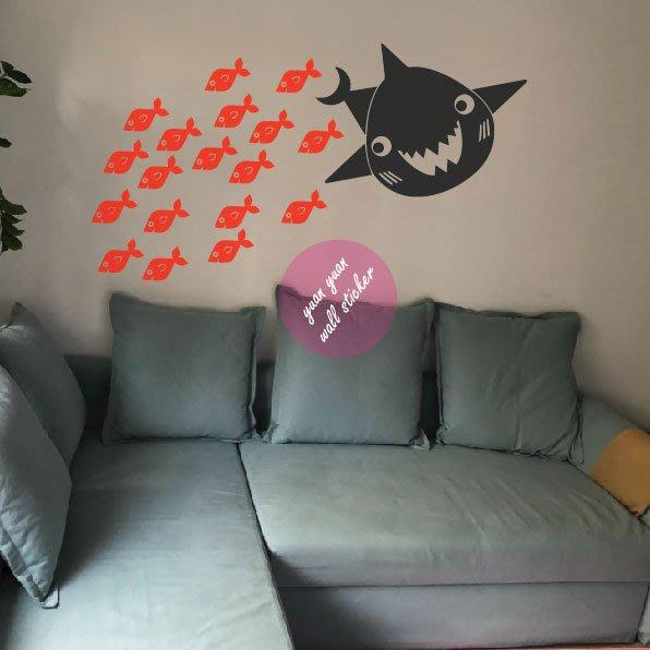 【源遠】baby shark 可愛鯊魚【CT-30】壁貼 壁紙 兒童房間 趣味 設計 客廳 小孩 卡通