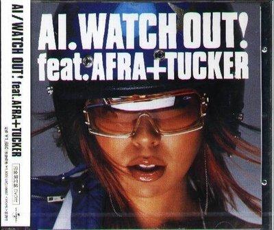 (日版全新未拆) AI - WATCH OUT! feat.AFRA+TUCKER - 完全限定盤CD+DVD