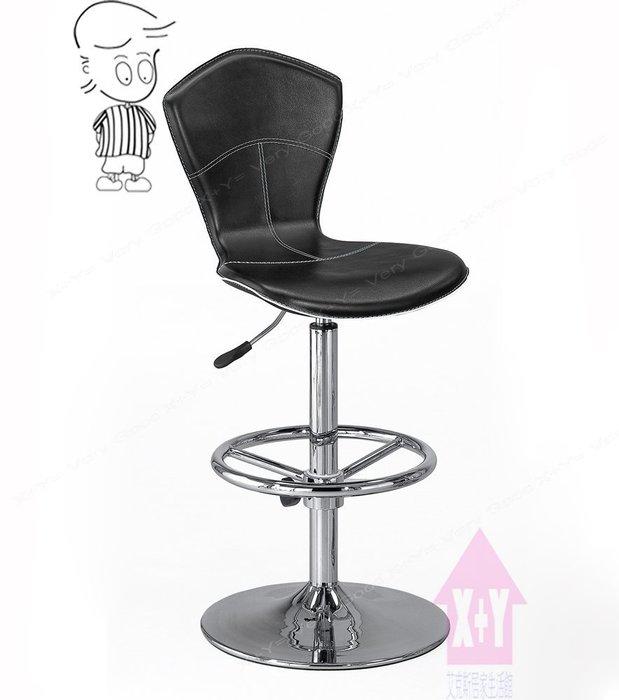 【X+Y時尚精品傢俱】現代吧檯椅系列-喬森 吧台椅(黑色).坐墊高級馬鞍皮.摩登家具