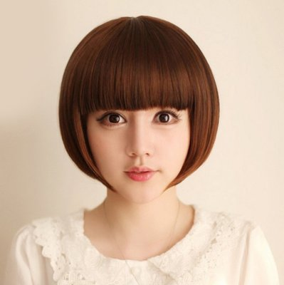 水媚兒假髮9M111♥新款女士假髮 學生款 齊瀏海鮑伯頭♥ 現貨或預購 團購批發