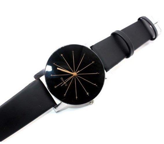 【省錢博士】時尚簡約凸面PU皮質手錶/情侶錶 129元