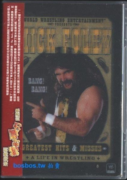 ◎全新DVD-!WWE美式摔角-硬蕊摔角傳奇-Mick Foley-米克佛利-個人專輯-對抗送葬者.The Rock