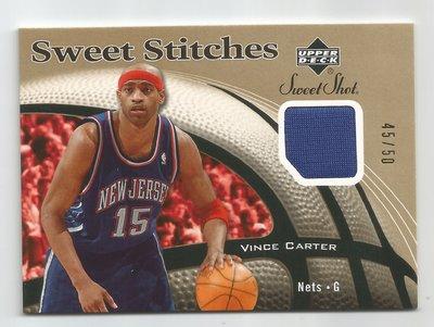 【MBC】Vince Carter 2006-2007 Sweet Stitches GOLD 金版球衣卡 45/50