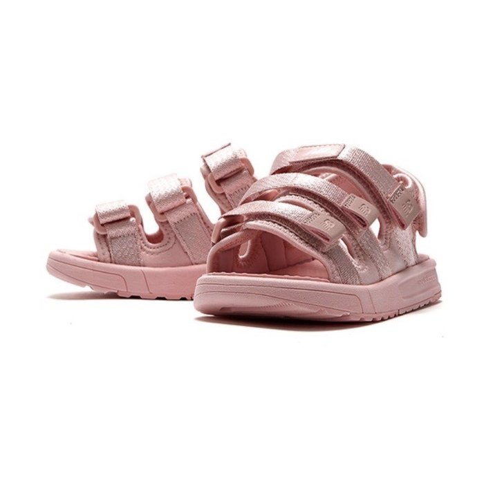 【Luxury】韓國代購 New Balance NB 粉 兒童 淺粉 全粉 涼鞋 中童 大童 三槓 魔鬼氈 親子鞋