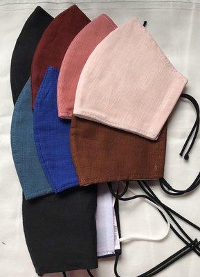 嘉禾拼布工作室~素色結紗+二重紗布 更透氣 3D立體布口罩套  成人版/兒童版(一面棉布.一面二重紗) 不挑色.純手工製作.節省醫療口罩消耗率