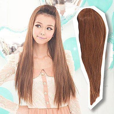 ☆雙兒網☆露出『額頭』耐熱纖維半罩式【MW018】半罩式-溫柔小女人氣質長直髮