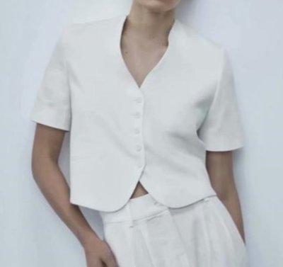 #西裝#歐美新款夏季短袖度假風休閒西裝外套F1-34241
