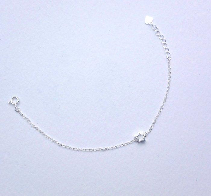 [Le Bonheur Line] 幸福線 手工/ 純銀鏈款 925純銀星星/ 紅線手鍊 純銀飾品 無敵星星 卡通 低調