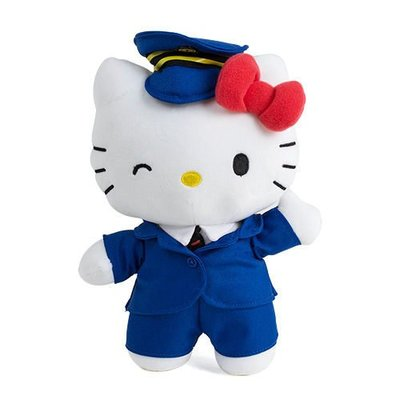 玫瑰默契*Hello Kitty台鐵太魯閣號-8吋站長絨毛娃娃(有盒裝)正版