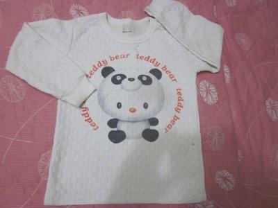 二手粗穿童裝出清--熊貓長袖上衣