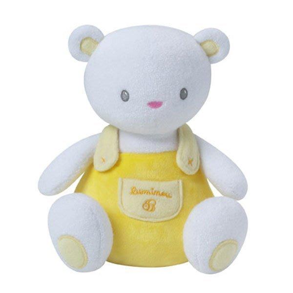 ☆奇奇娃娃屋(DL)☆法國luminou品牌,新科技布料~會發光的寶寶安撫玩偶~黃色小熊(小)~200元